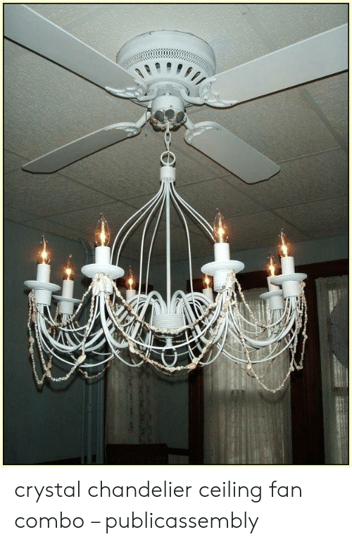 Crystal Chandelier Ceiling Fan Combo Publicassembly