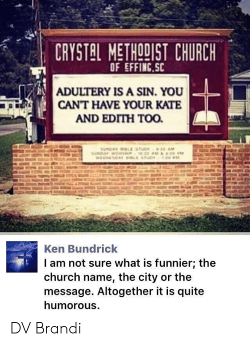 Crystal Methodist Church Of Effincsc Adultery Is A Sin You Cant Have