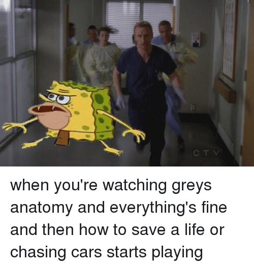 Ctv When Youre Watching Greys Anatomy And Everythings Fine And