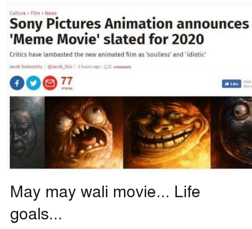 culture %3E film %3Enews sony pictures animation announces meme movie 26919141 culture \u003e film \u003enews sony pictures animation announces meme movie