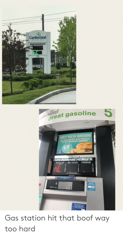 859c61e2 Cumberland FARMS 376 cIdeed Great Gasoline 5 HOLY HASH BROWN! 69C ...