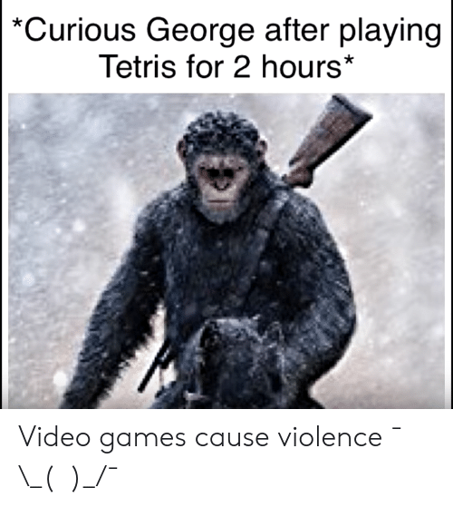 Curious George After Playing Tetris for 2 Hours* Video Games