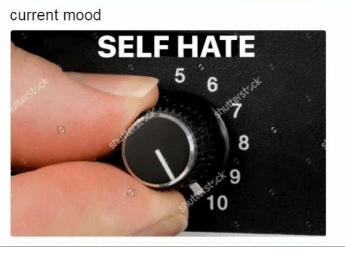 Mood, Current Mood, and Hate: current mood  SELF HATE  5  8  9  10