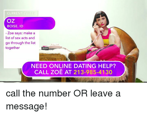 List of sex online dating