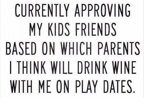 Dank, Friends, and Parents: CURRENTLY APPROVING  MY KIDS FRIENDS  BASED ON WHICH PARENTS  | THINK WILL DRINK WINE  WITH ME ON PLAY DATES