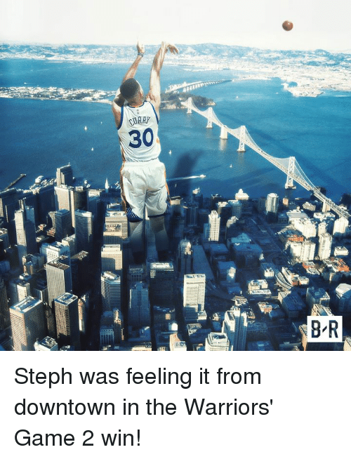 Game, Warriors, and Warriors Game: CURRY  30  8 R Steph was feeling it from downtown in the Warriors' Game 2 win!