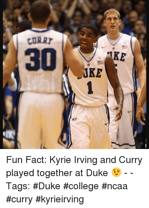 568d36b392f4 CURRY 30 JRA Fun Fact Kyrie Irving and Curry Played Together at Duke ...