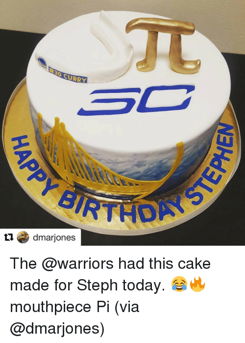 Curry 3c Tu Dmarjones The Had This Cake Made For Steph Today