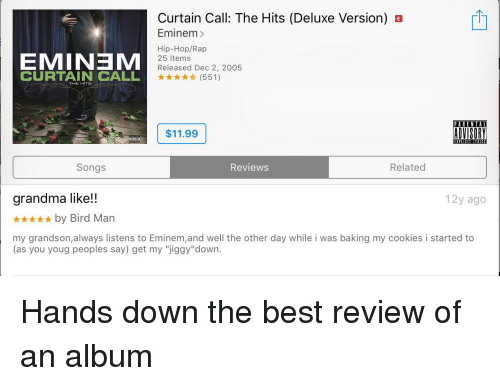 Curtain Call the Hits Deluxe Version B Eminem> EMINEM CURTAIN CALL ...