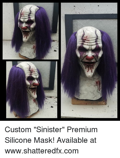 Custom Sinister Premium Silicone Mask Available At