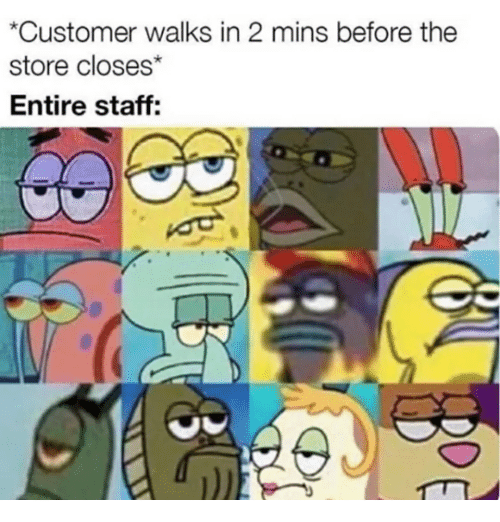 Customer Walks in 2 Mins Before the Store Closes Entire