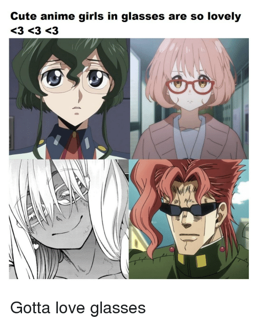 Cute anime girls with glasses