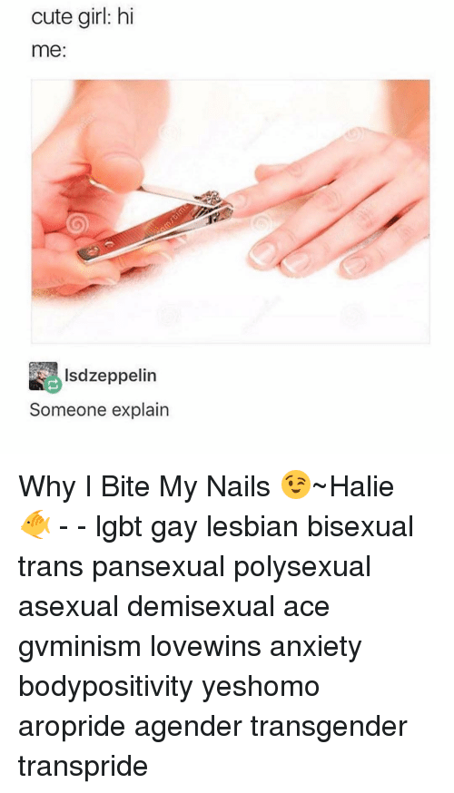 Cute Girl Hi Me Lsdzeppelin Someone Explain Why I Bite My Nails