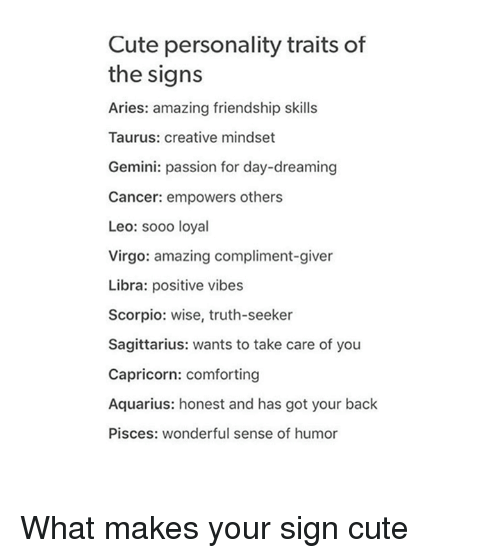 Cute Personality Traits of the Signs Aries Amazing