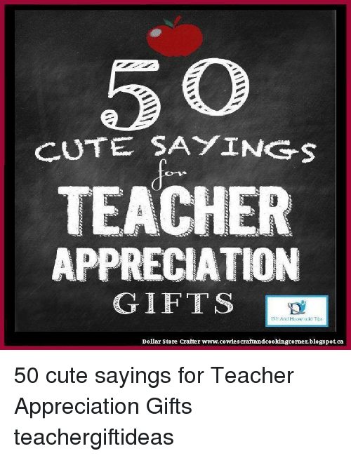 Cute Saying S Teacher Appreciation Gifts And House Held