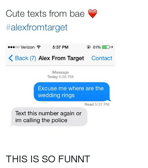 target contacts and reading cute texts from bae alexfrom target 537 - Target Wedding Rings