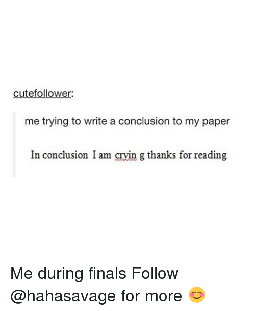 write a conclusion for me