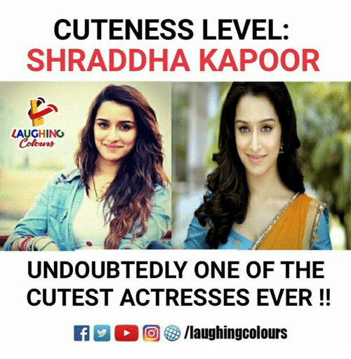 Indianpeoplefacebook, Shraddha Kapoor, and One: CUTENESS LEVEL:  SHRADDHA KAPOOR  LAUGHING  UNDOUBTEDLY ONE OF THE  CUTEST ACTRESSES EVER!!  0回 3/laughingcolours