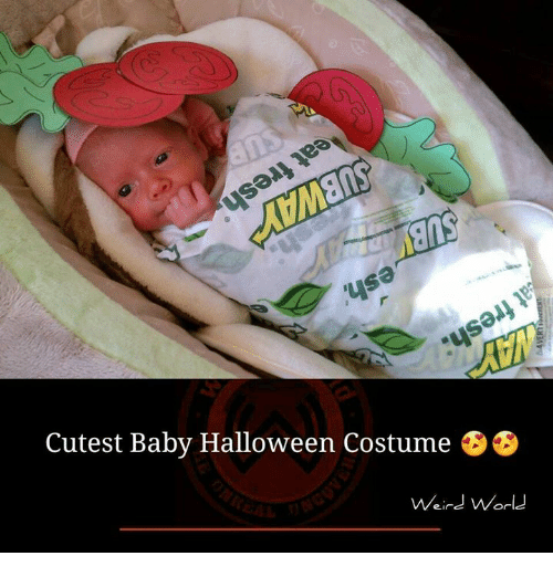 Halloween Memes and Halloween Costumes Cutest Baby Halloween Costume Weird World  sc 1 st  Me.me & Cutest Baby Halloween Costume Weird World | Halloween Meme on me.me