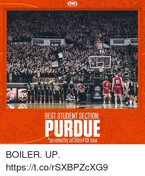 Memes, Best, and 🤖: CUVES 09  HERF  15  02  PIONEER  BEST STUDENT SECTION:  PURDUE  as voted by aCBBonFOX fans BOILER. UP. https://t.co/rSXBPZcXG9