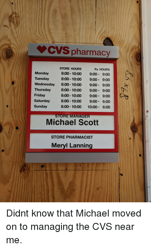 Cvs Pharmacy Store Hours 800 1000 800 10 Rx Hours 900 00 900 900