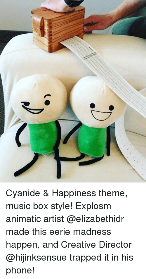Boxing, Memes, and Phone: Cyanide & Happiness theme, music box style! Explosm animatic artist @elizabethidr made this eerie madness happen, and Creative Director @hijinksensue trapped it in his phone!
