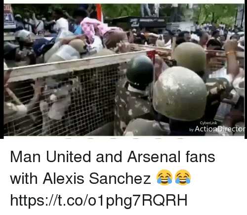 Arsenal, Soccer, and United: CyberLink  by ActionDirecto Man United and Arsenal fans with Alexis Sanchez 😂😂 https://t.co/o1phg7RQRH