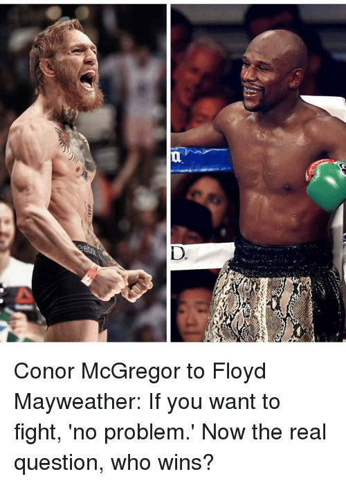 d a conor mcgregor to floyd mayweather if you want 2444656 d a conor mcgregor to floyd mayweather if you want to fight 'no