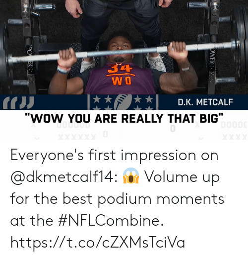 Dk Metcalf Wow You Are Really That Big Everyone S First Impression On Volume Up For The Best Podium Moments At The Nflcombine Httpstcoczxmstciva Meme On Me Me