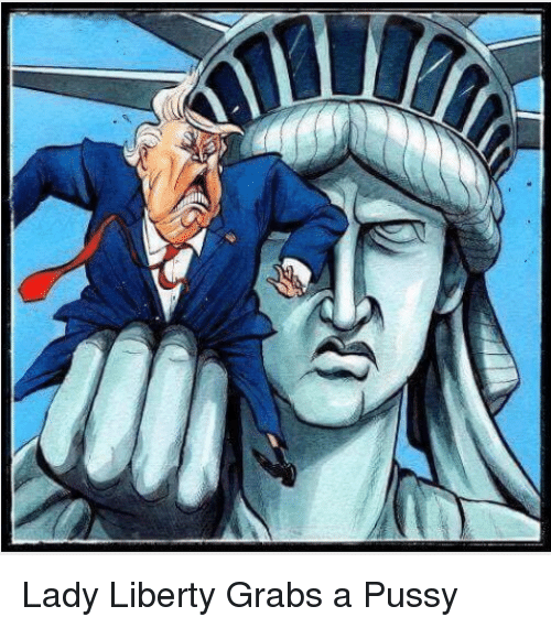 Image result for trump grabbing statue of liberty