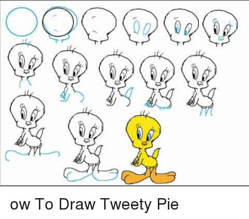 funny drawings and how to d ow to draw tweety pie