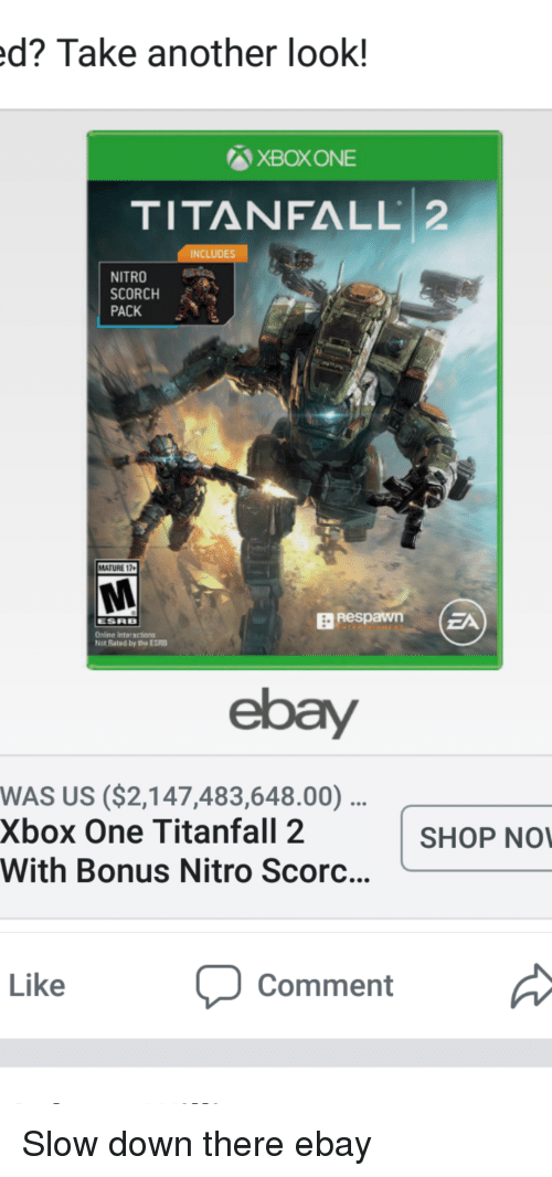 D Take Another Look Xboxone Titanfall 2 Includes Nitro