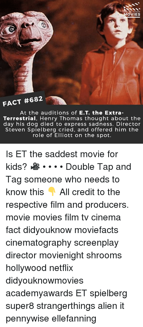 D YOU KNOW MOVIES FACT #682 at the Auditions of ET the Extra