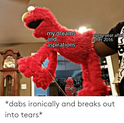 The Dab, Dank Memes, and Tears: *dabs ironically and breaks out into tears*