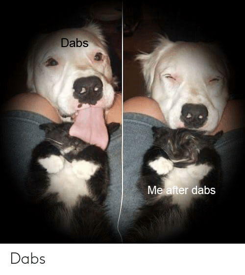 The Dab, Weed, and After: Dabs  Me after dabs Dabs