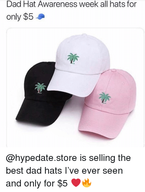 Dad Hat Awareness Week All Hats for Only  5 Is Selling the Best Dad ... 12e984c99089