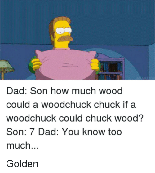 Dad Son How Much Wood Could A Woodchuck Chuck If A Woodchuck Could