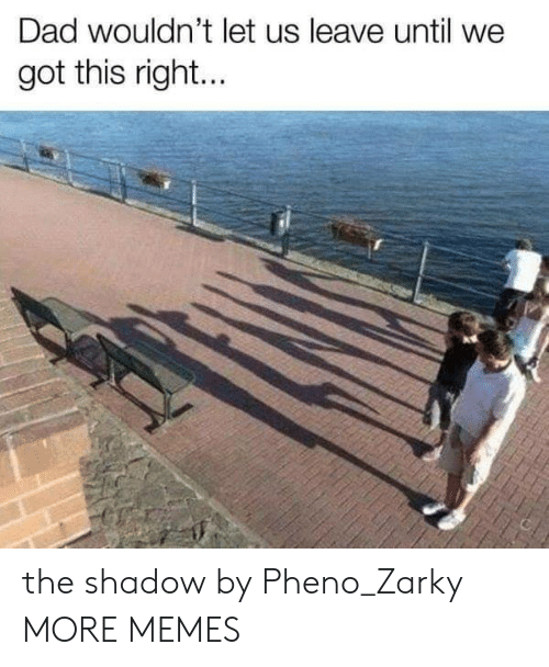 Dad, Dank, and Memes: Dad wouldn't let us leave until we  got this right... the shadow by Pheno_Zarky MORE MEMES