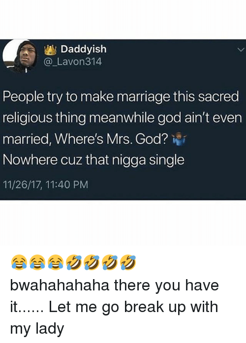 Daddyish People Try to Make Marriage This Sacred Religious Thing