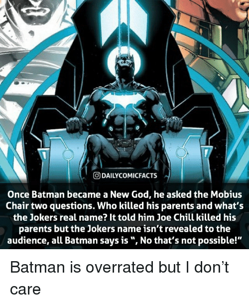 who Memes & DAI LYCOMICFACTS Once Batman Became a New God He Asked the Mobius ...