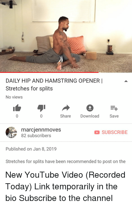 DAILY HIP AND HAMSTRING OPENER | Stretches for Splits No