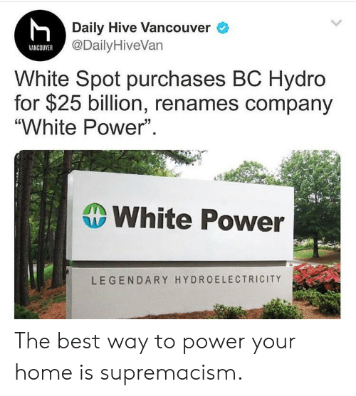 Daily Hive Vancouver VANCOUVER White Spot Purchases BC Hydro for $25
