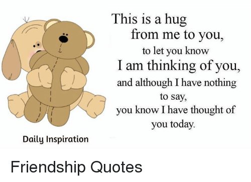 Daily inspiration this is a hug from me to you to let you for Me to u pictures