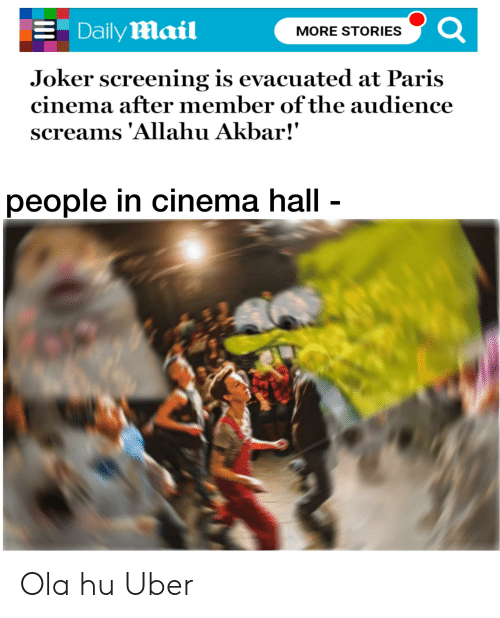 Daily Mail More Stories Joker Screening Is Evacuated At Paris