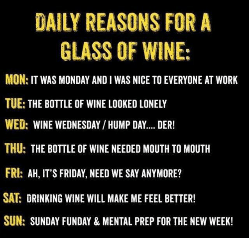 daily reasons for a glass of wine mon it was 12693042 ✅ 25 best memes about wednesday hump day wednesday hump day memes,Wine Wednesday Meme
