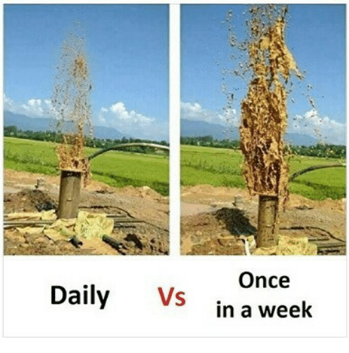 Indonesian (Language), Once, and Daily: Daily Vs  Once  in a week