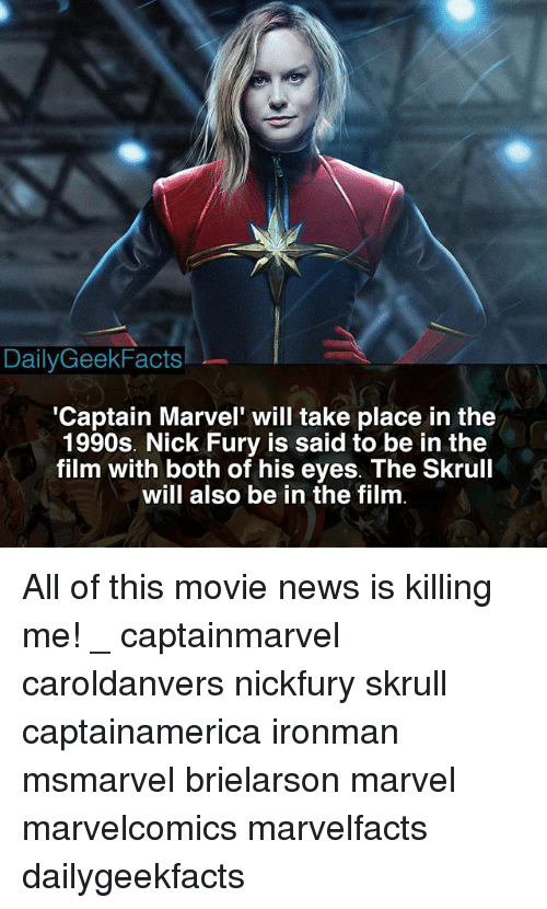 Dailygeekfacts Captain Marvel Will Take Place In The 1990s Nick