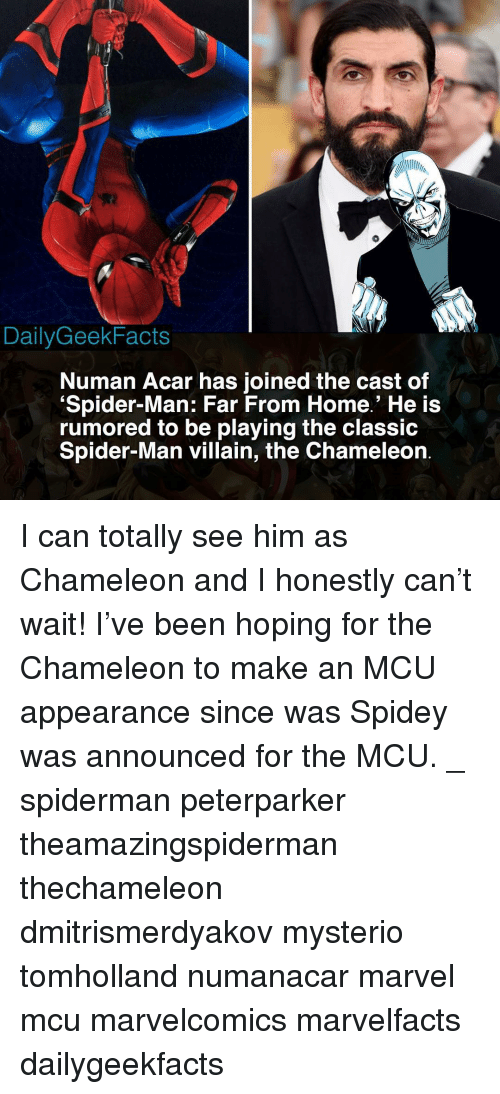 DailyGeekFacts Numan Acar Has Joined the Cast of Spider-Man Far From