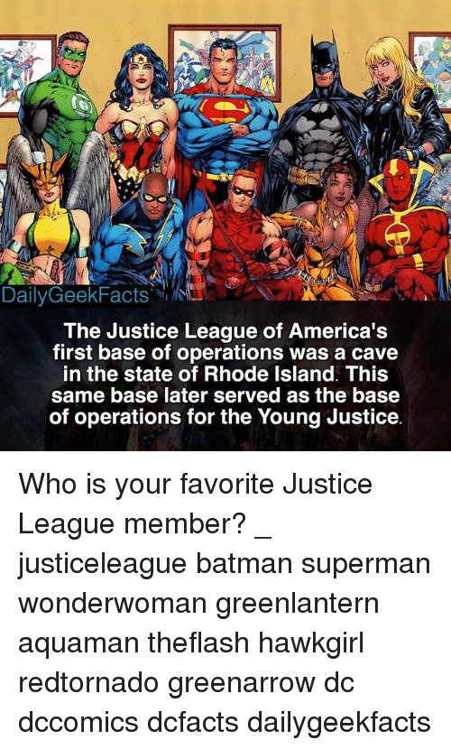 dailygeekfacts the justice league of america s first base of