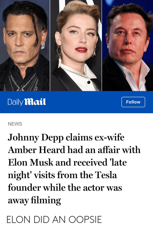 DailyMail Follow NEWS Johnny Depp Claims Ex-Wife Amber ...